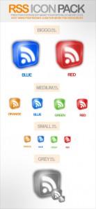 RSS box icon set