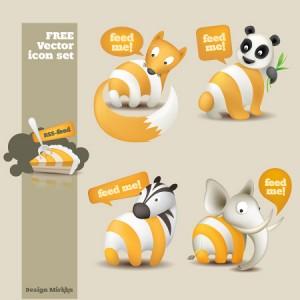 Animal RSS icon set