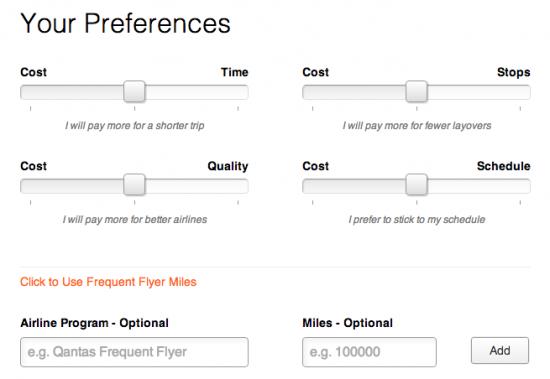 FlightFox: contest options